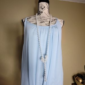 Sale 4/$20 Blue Dress Crochet Dress Blue Sz Med